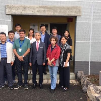 El Instituto Marítimo Coreano (KMI) visita las instalaciones del Banco Español de Algas