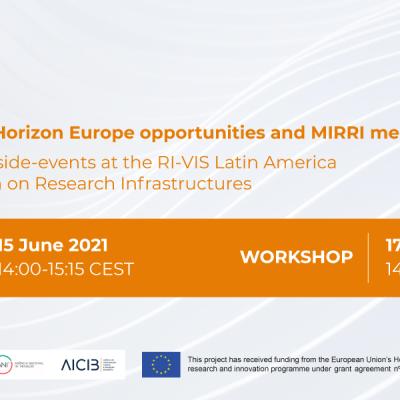 IS_MIRRI21 virtual events: Matchmaking for Horizon Europe opportunities and MIRRI membership
